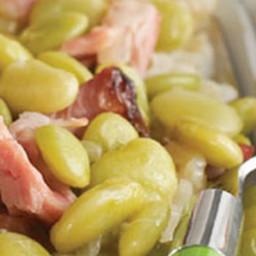 Smoked Ham Hocks with Lima Beans