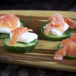Smoked Salmon and Cucumber Stacks