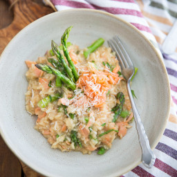 Smoked Salmon Asparagus Risotto