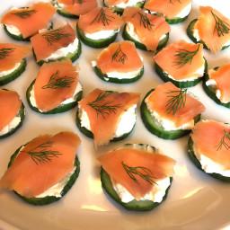 Smoked Salmon Cucumber Appetizer