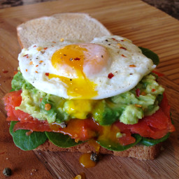 Smoked Salmon Egg Sandwich