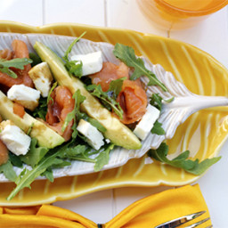 Smoked Salmon, Feta and Avocado Salad