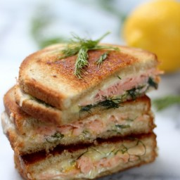 Smoked Salmon & Gruyere Grilled Cheese
