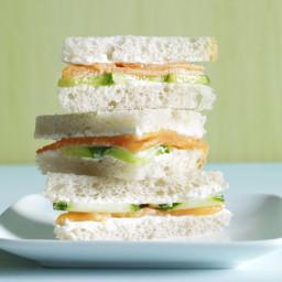 Smoked Salmon & Wasabi Mayo Sandwiches