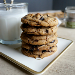 smoked salt and browned butter chocolate chip cookies