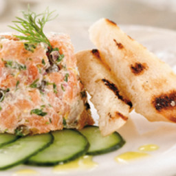 Smoked Trout Tartare with Horseradish and Dill