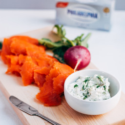 Smoked Salmon Toasts with Dill and Cream Cheese
