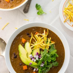 Smokey Black Bean and Sweet Potato Soup