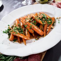 Smokey Candied Carrots with Walnut Gremolata