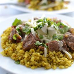 Smokey Turmeric Cauliflower Rice