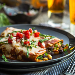 Smokey Black Bean Enchiladas