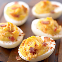 Smoky Deviled Eggs With Bacon