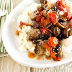 Smoky Grits with Roasted Tomatoes and Mushrooms