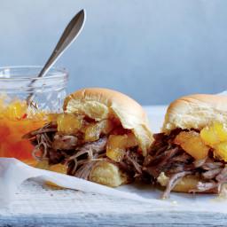 Smoky Kalua Pork Sandwiches with Spiced Pineapple Jam