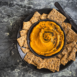 Smoky Pumpkin and Black Sesame Seed Hummus