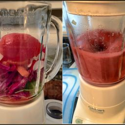 Smoothie Red Cabbage, Carrots, Celery, Tomatoes, Radish