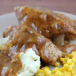 Smothered Boneless Pork Ribs Recipe