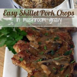Smothered Pork Chops with Mushroom Gravy