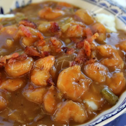 Smothered Shrimp in Brown Gravy