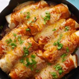 Smothered Skillet Beef Burritos