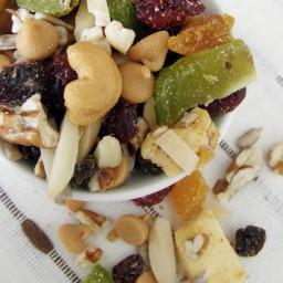 Snack saludable / trail mix {frutos secos, fruta y más}