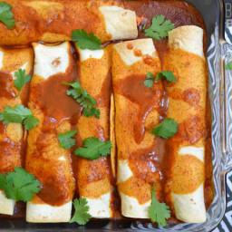 SNAP Challenge: Creamy Chicken and Black Bean Enchiladas