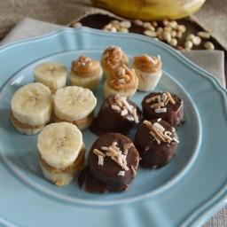 Sándwich de plátano y crema de cacahuate (botana sin pan o carbohidratos)