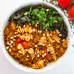 Sneaky Lentil and Turkey Bolognese