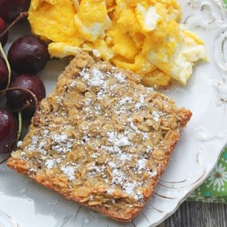 Sneaky Veggie Baked Oatmeal (Summer Squash Oatmeal Cake) • Cheapskate