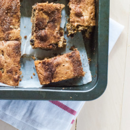 Snickerdoodle Chocolate Chip and Candied Chestnut Blondies
