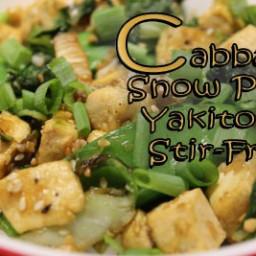 Snow Pea and Cabbage Yakitori Stir-Fry