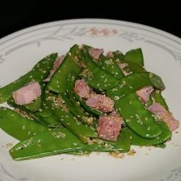 Snow Peas with Sesame Seeds