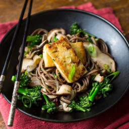 Soba Noodles With Shiitakes, Broccoli and Tofu