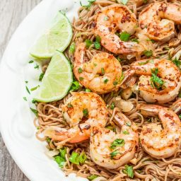 Soba Noodles with Shrimp and Lime Cilantro