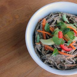 Soba Noodle Salad With Ginger Peanut Dressing