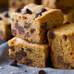 Soft & Chewy Chocolate Chip Cookie Bars