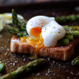 Soft Boiled Eggs with Asparagus on Toast