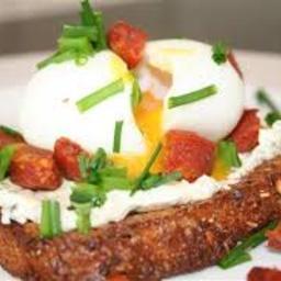 Soft Boiled Eggs With Crispy Chorizo