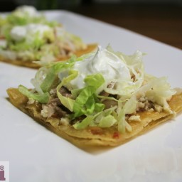 Spicy Soft fried tortillas with Chicken (Chalupas Poblanas)