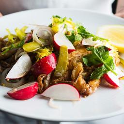 Soft-Shell Crabs with Radish Salad