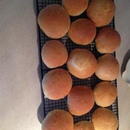 Soft Sandwich Buns (Dough Hook Mixer Version)