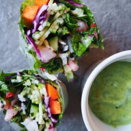 Sommerruller med frisk avocadokrem