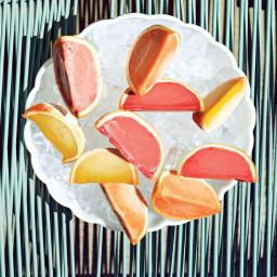 Sorbet in Grapefruit Cups