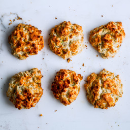 Sour Cream and Scallion Drop Biscuits