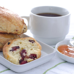 Sour Cream Cranberry Scones