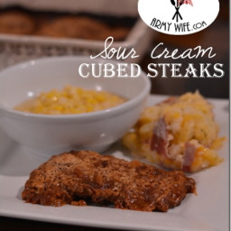 Sour Cream Cubed Steaks