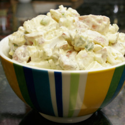 Sour Cream Potato and Egg Salad with Cucumber
