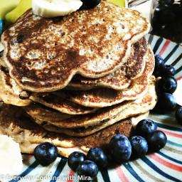 Sourdough Blueberry Pancake