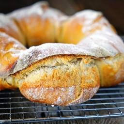 Sourdough Couronne Bordelaise - Bordeaux-Style Crown Bread