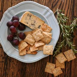 Sourdough Rosemary Crackers